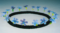 """periwinkle"" glass tiara by artist vivenne bell"