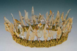 """coronet"" glass crown by artist vivienne bell"