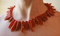 """chili"" flame worked glass bead necklace by artist vivienne bell"