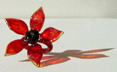 """flower ring"" flame sculpted glass ring by artist vivienne bell"